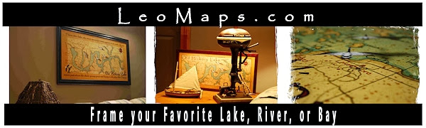 Vintage Style Handcrafted Art Maps from Leo Lakes